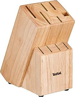 Tefal K0973114 Heritage Bloc de 10 Couteaux, Bois, 16 x 11,5 x 21,2 cm