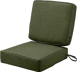 "Classic Accessories Montlake FadeSafe Patio Cushion Combo, 23""w x 23""d (seat), 21""w x 20""h (back), Heather Fern"