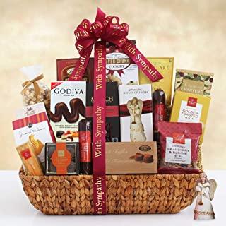 Sympathy Gift Basket with Keepsake Angel