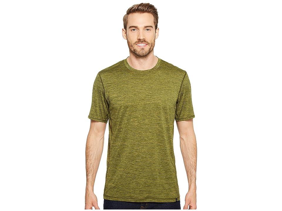 Prana Hardesty T-Shirt (Fern Green Stripe) Men