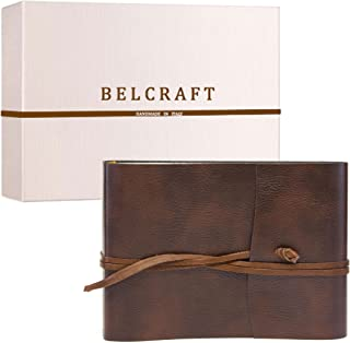 Belcraft Tivoli Album Fotografico in Pelle Riciclata, Elegante Pensiero con Scatola Regalo, Realizzato a Mano da Artigiani...