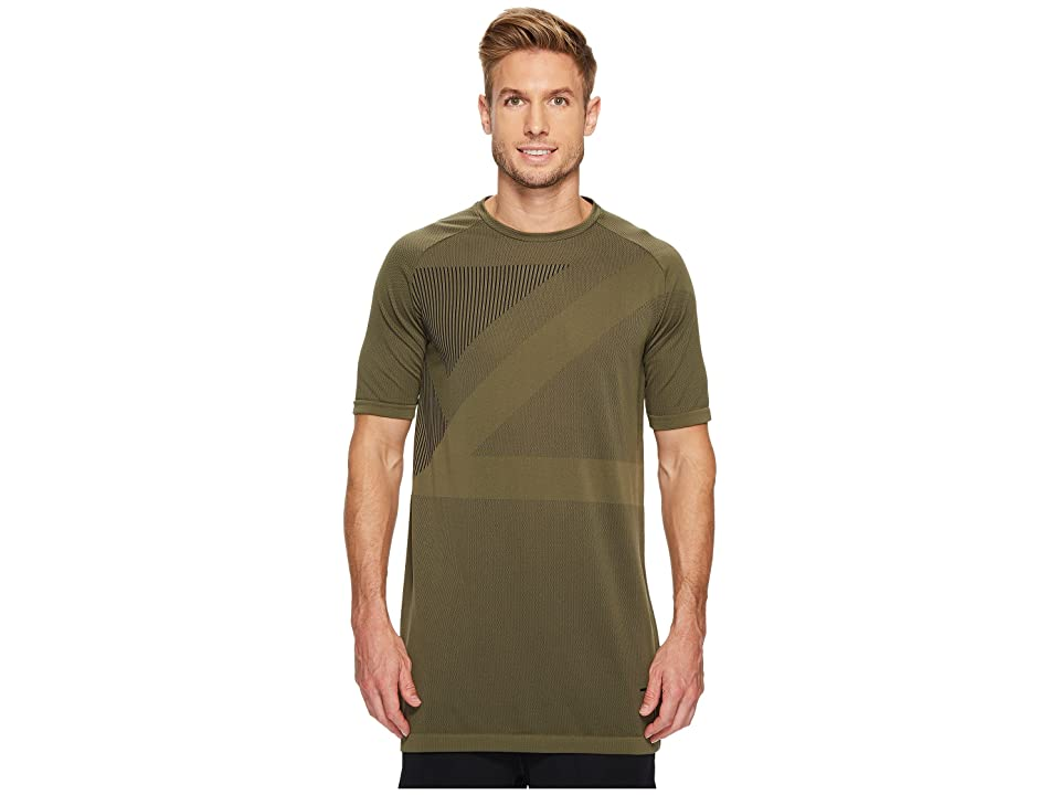 PUMA Evoknit Tee (Olive Night) Men