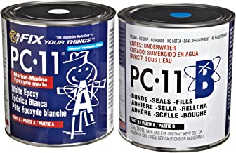PC Products PC-11 Two-Part Marine Epoxy Adhesive Paste, Off White, 8 lb in Two Cans