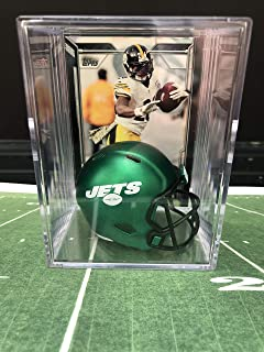 083794d40 NEW Green New York Jets NFL Helmet Shadowbox w/Le'Veon Bell card