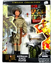 Hasbro Year 2001 G.I. JOE Timeless Collection Series 12 Inch Tall Soldier Action Figure Set - AUSTRALIAN JUNGLE FIGHTER with Hat, Trench Knife, Jacket with Brass Buttons, 6 Grenades, Machete with Sheath, Flame Throwerwith Hose and Tank, Shovel, Medal and Counter Intelligence Manual