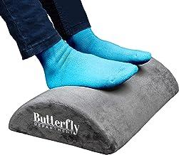 Foot Rest - High Resilient Comfort Foam - Ergonomic Foot Stool - Non-Slip Bottom - Soft Removable Cover - Optimum Leg Clea...