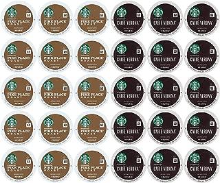 Coffee K Cups (30 Mix) Pike Place (15) & Caffe Verona (15) Single-Serve Keurig K-Cups Pods
