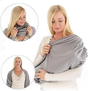 3 en 1 Nursing cover: fular// loop// bolero Cubierta lactancia 100/% algod/ón Manta para amamantar transpirable y opaca Gris LaLoona Pa/ñuelo lactancia materna