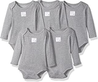 Unisex Baby Bodysuits, 5-Pack Short & Long Sleeve One-Pieces, 100% Organic Cotton