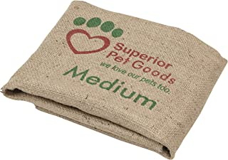 Superior Pet Goods Fitted Hessian Dog Bed Cover, Medium