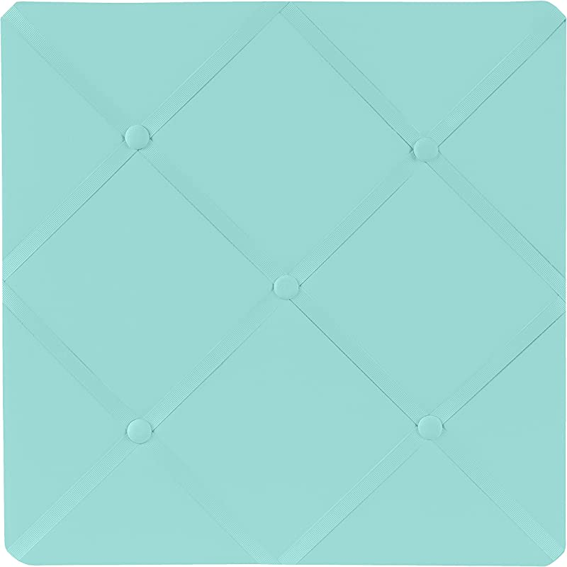 Sweet Jojo Designs Turquoise Blue Fabric Memory Memo Photo Bulletin Board By
