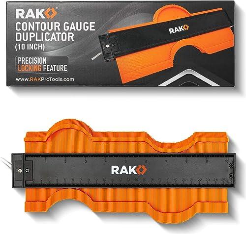 RAK Contour Gauge Shape Duplicator (10 Inch Lock) Template Tool with Adjustable Lock Precisely Copies Irregular and A...