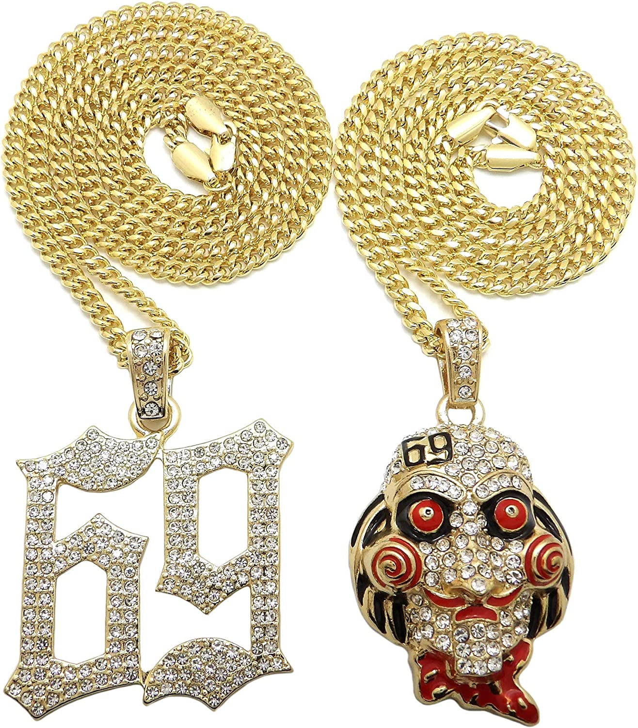 BLINGFACTORY Hip Hop Iced Industry No. 1 Gold Inspired Saw 69 Pendant Free shipping New Plated