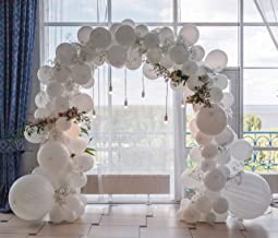 Balloon Garland Kit by Party Animal Company - White and Gold - 85 pcs - Veteran Owned - DIY Party Decorations - Birthday Party - Baby Shower - Weddings - Prom - Retirement Party - Arch