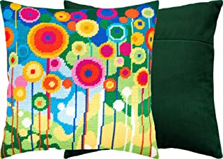 Dandelions. Needlepoint Kit. Throw Pillow 16�16 Inches. Printed Tapestry Canvas, European Quality (with Backing)