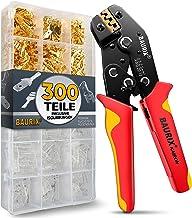 BAURIX® krimptang met 300 stuks platte kabelschoenen set I krimptang voor 0,50-2,50 mm² connectoren I kabelschoentang, ste...