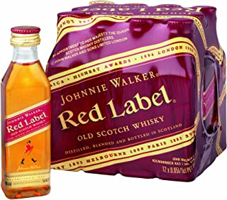"Johnnie Walker - Red Label Blended Scotch Whiskey ""Miniaturen""- 12 x 0,05l"
