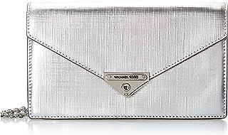 MICHAEL KORS Womens Medium Envelope Clutch Bag, Silver - 30H9SGHC6M