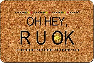MOMOBO Funny Doormat Custom Indoor Doormat -Oh Hey R U Ok Doormat Funny Front Mats Home and Office Decorative Entry Rug Ga...