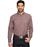 Wrangler - Long Sleeve George Strait Two-Pocket Button Plaid