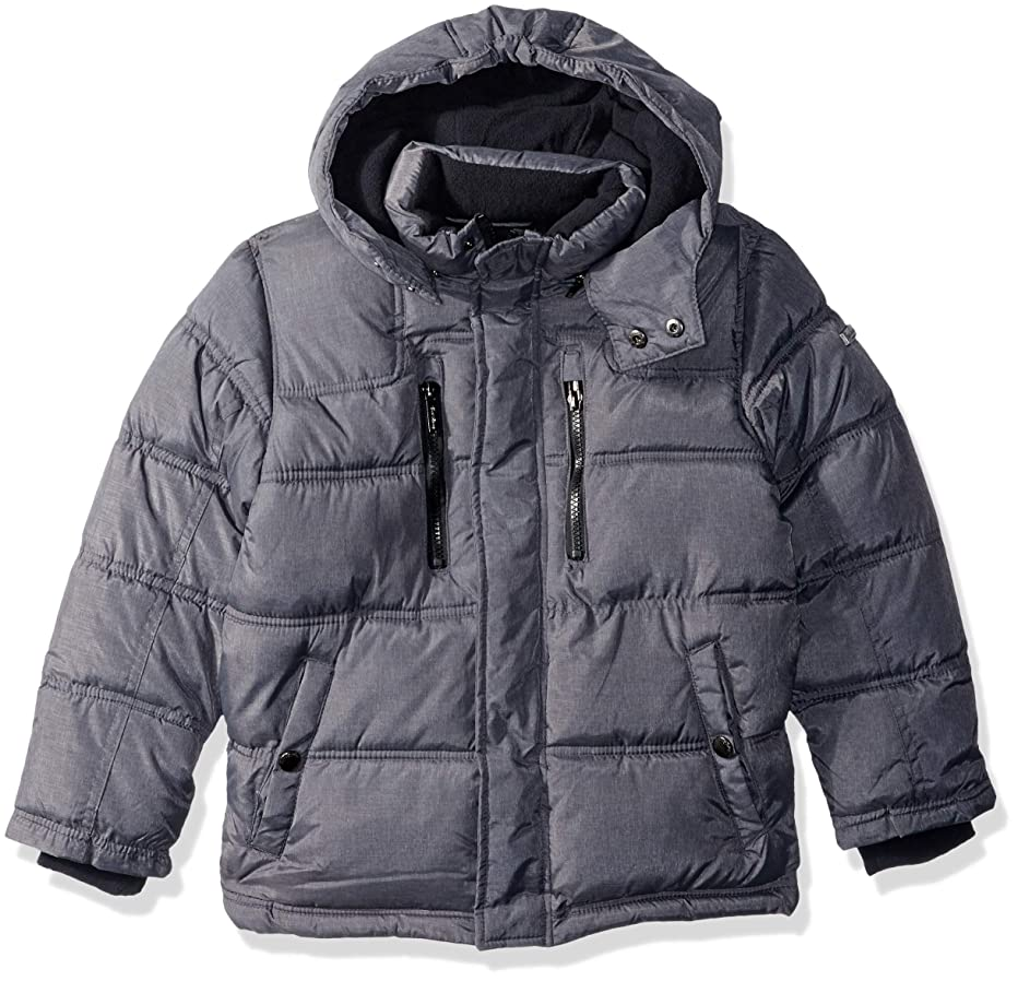 English Laundry Boys' Bubble Jacket with Sherpa Trim