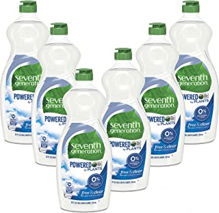 Sponsored Ad - Seventh Generation Dish Liquid Soap, Free & Clear, 25 Oz, Pack of 6