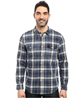 True Grit - Summit Plaid Two-Pocket Western Shirt with Chambray