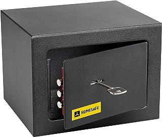 HomeSafe HV15K Caja fuerte con Cerradura de Calidad 15x20x17cm (HxWxD), Negro Satén de Carbón