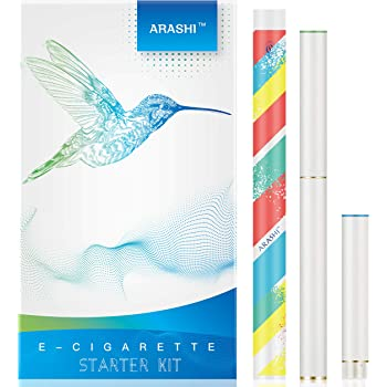 ARASHI FLEVO互換 電子タバコ スターターキット 2種風味 カートリッジ 大容量 約300口/個 [510Lite • ホワイト]