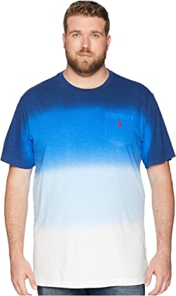 Big & Tall Slub Jersey Dip Dye T-Shirt