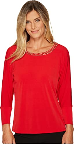 Calvin Klein - Long Sleeve Top with Gold Chain