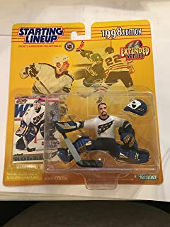 OLAF KOLZIG / WASHINGTON CAPITALS 1998 Extended Series NHL Starting Lineup Action Figure & Exclusive Pacific NHL Collector...