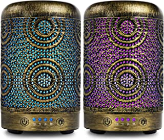 Cool Mist Essential Oil Diffuser 2 Pack, ARVIDSSON Aromatherapy Ultrasonic Diffusers for Essential Oils, 7 Color Changing Light & Auto Shut-off
