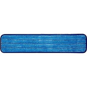 "RCPQ409BLUCT Rubbermaid Q409 Standard 18/"" Microfiber Damp Mop Pad 3 Pads"
