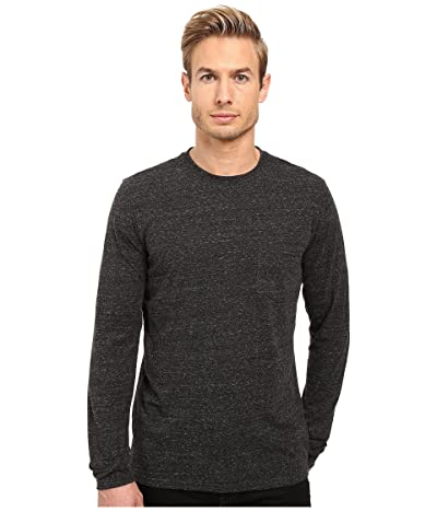 Threads 4 Thought Tri-Blend Long Sleeve Pocket Tee (Heather Black) Men
