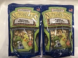 LAFEBER'S Gourmet Nutri-Berries with Popcorn for Parakeet, Cockatiel & Conures 4 oz - Pack of 2