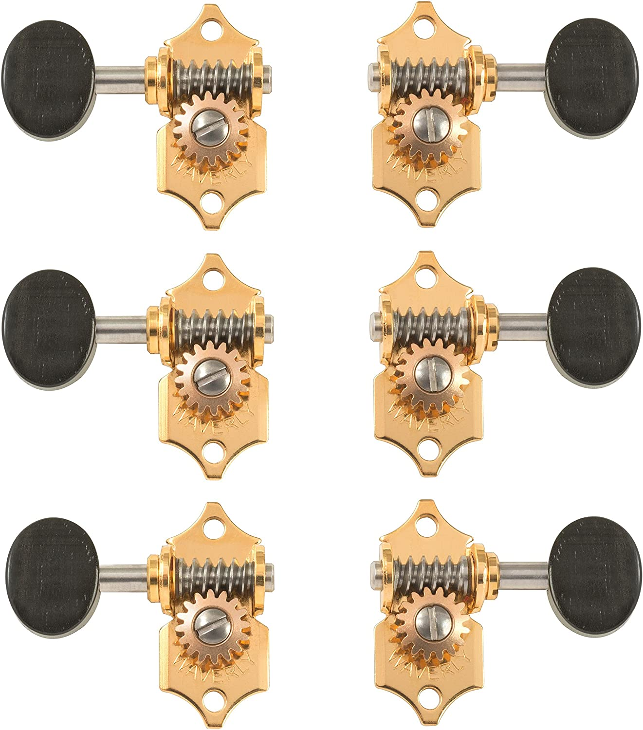 Waverly Guitar Ranking TOP5 Tuners with Ebony for Pegheads Gold Many popular brands Solid Knobs