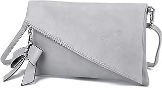 Clutch 2-in-1 - Kleine Handtasche Elegante Abendtasche - Damen Umhängetasche - Schultertasche Abnehmbarer Gurt - inkl. Sch...