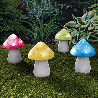 JDD Garten-Solarleuchten im Freien Rasen Weg Metall Blume LED Stake dekorative Lichter f/ür Terrasse Hof
