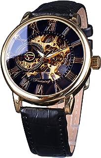 Forsining 皇家罗马数字男式手表*品牌奢华骨架机械手表