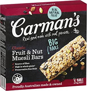 Carman's Muesli Bar Classic Fruit & Nut, 6-pack (270g)