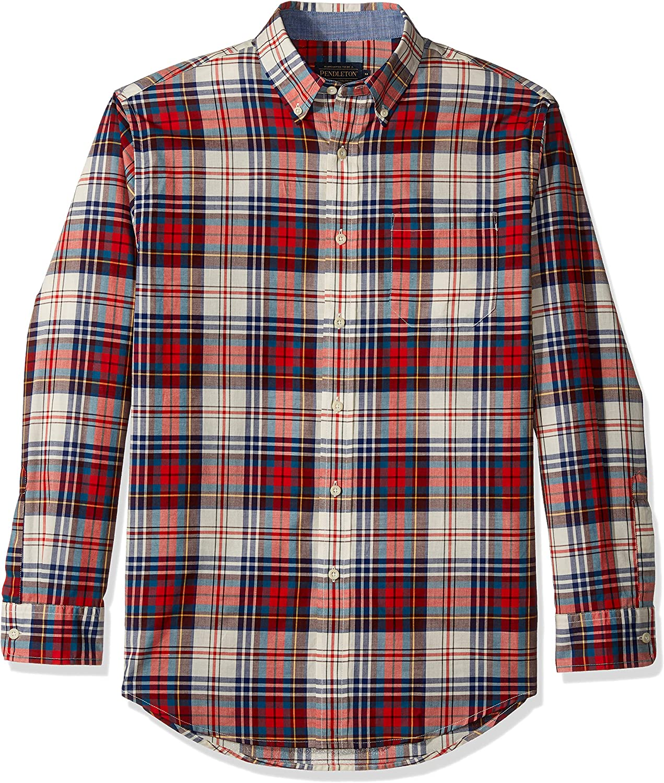 Pendleton Men's Max 69% OFF Max 75% OFF Long Shirt Madras Sleeve