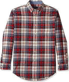 Men's Long Sleeve Madras Shirt