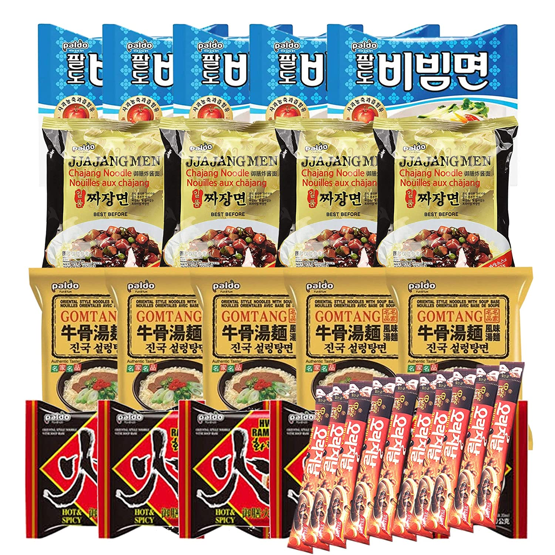 Korean High quality Hit K-Foods Paldo Popular Noodle Ramen Co Instant Pack Variety w