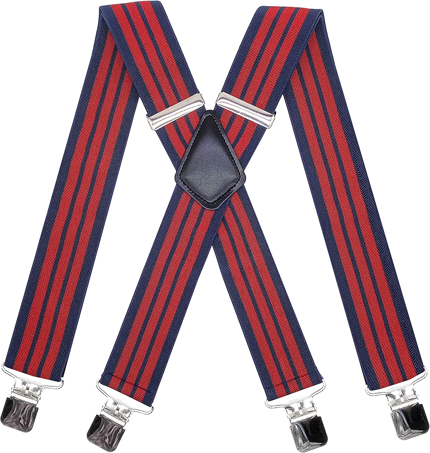 AYOSUSH Suspenders for Men Heavy Duty Big and Tall Adjustable Strong Clip 2 Inch