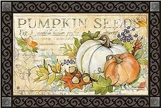 Sponsored Ad - Studio M Pumpkin Seed Sack Fall/Winter MatMates Decorative Floor Mat Indoor or Outdoor Doormat with Eco-Fri...