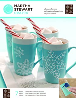 Martha Stewart Crafts Glass Silkscreen (8.5 by 11-Inch), Snowflakes