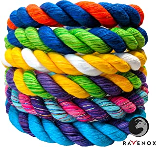 Ravenox Colorful Twisted Cotton Rope | Made in The USA | Custom Color Triple-Strand Rope and Cordage for Sport, Décor, Pet...
