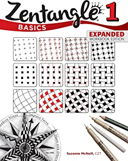 Zentangle Basics, Expanded Workbook Edition: A Creative Art Form Where All You Need is Paper, Pencil, & Pen (Design Originals) 25 Original Tangles, Beginner-Friendly Practice Exercises, & Techniques