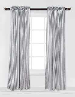 french ticking stripe curtains
